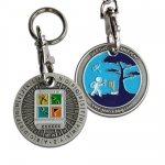 ROT13 Geocoin Key Chain